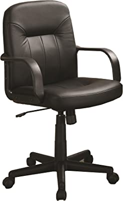 Coaster Home Furnishings CO-800049 Adjustable Height Office Chair, Black