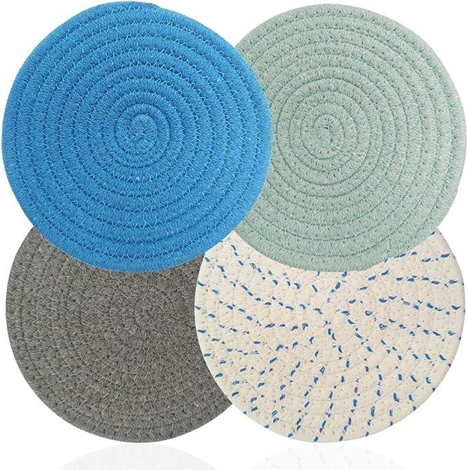 195 opiniones para AIFUDA 4 soportes para ollas calientes de hilo de algodón, alfombrillas