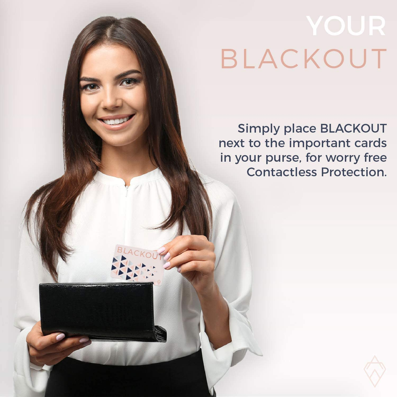 Tarjeta de Bloqueo RFID Ultrafina Blackout de AKIELO Soluci/ón Simple para la Protecci/ón de Tarjetas de Cr/édito Contactless Protector de Tarjetas RFID para Cartera o Bolso 2 Piezas