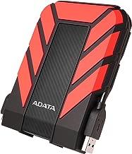 ADATA HD710 Pro 2TB External Hard Drive, Red (AHD710P-2TU31-CRD)