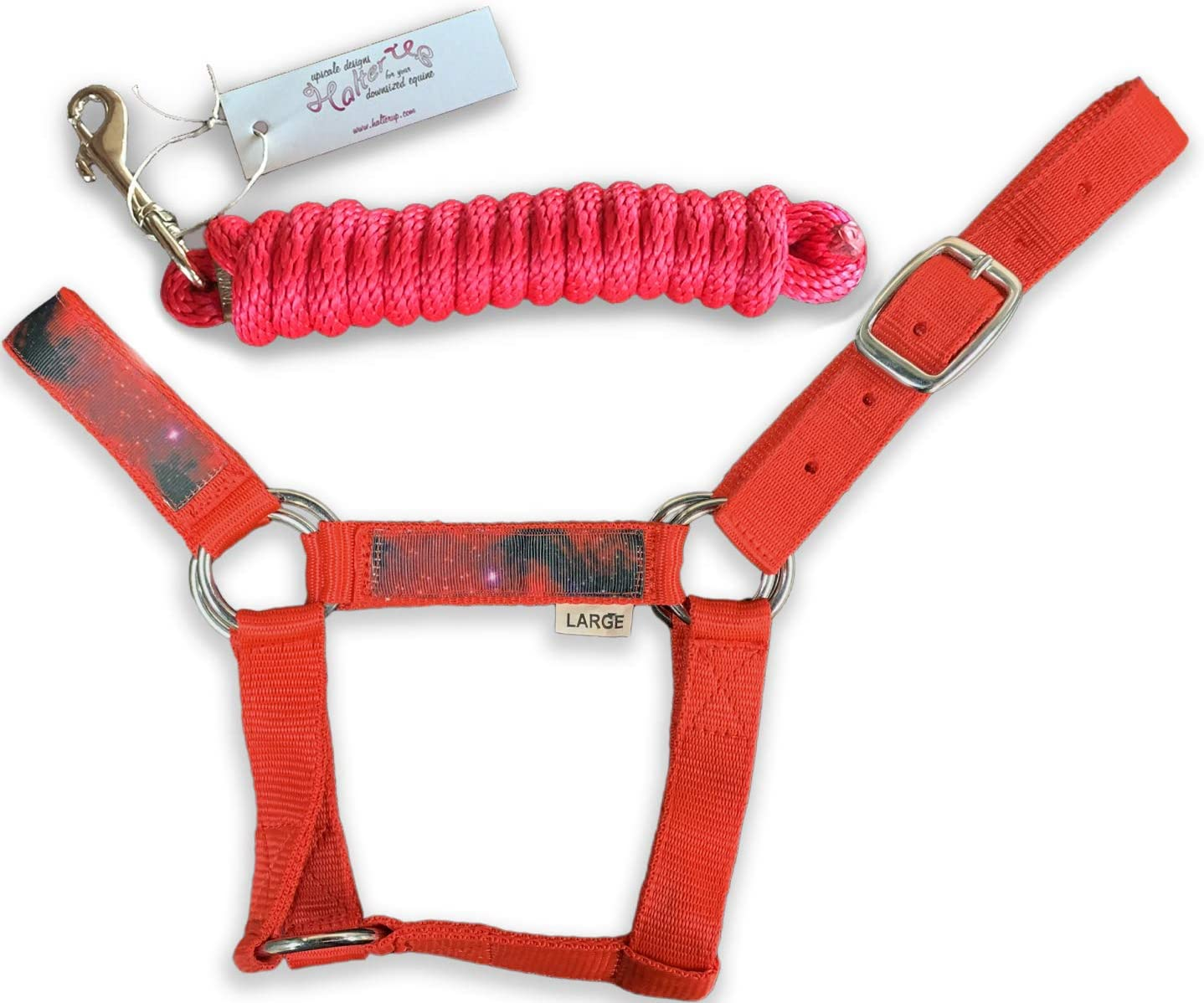 HalterUp New sales Miniature Price reduction Horse Halters and Lead bundle Ropes 2 item