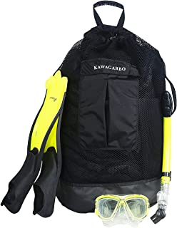 Kawagarbo Scuba Diving Bag - Large Mesh Travel Backpack for Scuba Diving and Snorkeling Gear & Equipment Heavy Duty Mesh D...