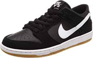 check out 348bf e6aef Nike SB Zoom Dunk Low Pro Black White-Gum Light Brown Skate Shoes-