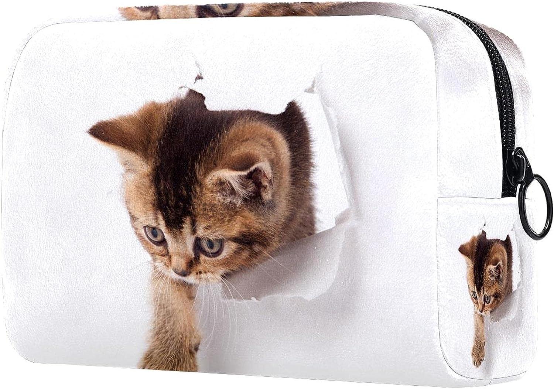 Cosmetic Bag Year-end gift Zipper Closure cat Makeup paw