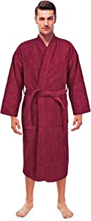 Turkuoise Men s Terry Cloth Robe Turkish Cotton Terry Kimono Collar e85d9848f