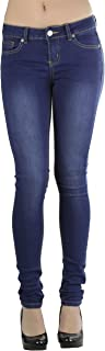 ToBeInStyle Women's Knit Denim 5 Pocket Skinny Jeans