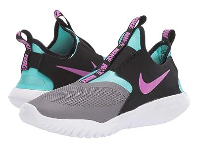 Nike Kids Flex Runner (Big Kid) (Gunsmoke/Violet Pop/Black/Aurora Green) Kids Shoes