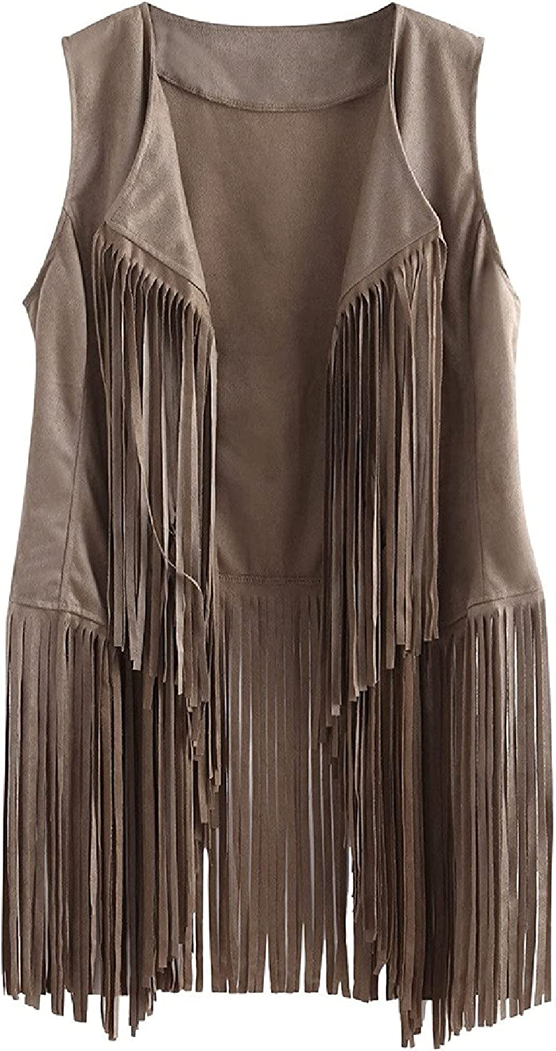 Vest Fixed price for sale Women Autumn Winter Max 75% OFF Suede Faux Cardigan Ethnic Sleevele