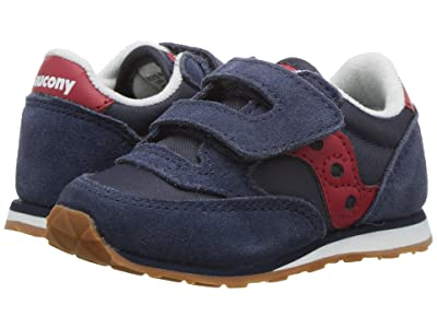 Saucony Kids Originals Jazz Hook Loop (Toddler/Little Kid) (Navy/Red) Boys Shoes