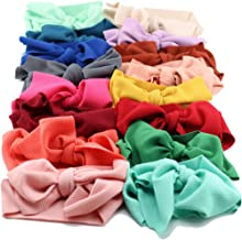 Adjustable Big Bow Headwrap Baby Headband Top Knot Headbands Over Sized Bow Hair Turban Newborn Head Band Girl Large Hair Bows,random color
