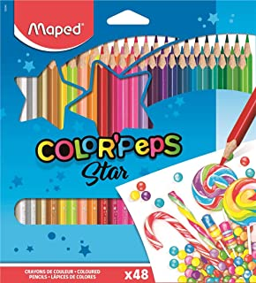 Maped Color'Peps Color Pencil Set - Pack of 48 (Multicolor)
