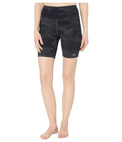 ALO High-Waist Vapor Shorts (Black Camouflage) Women
