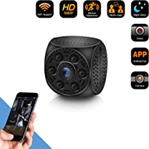 Spy Hidden Camera WiFi Wireless Mini Camera,HD 1080P Spy Camera with 170 Degree Wide-Angle View, Night Vision Nanny Cam Motion Detection Home Office Security Suveillance Cameras