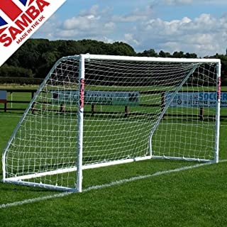 Samba Soccer Goal - Training Grade 12x6- The Premier Locking uPVC Goal That is Perfect for Field or Home. Great All Weather Goal so Leave it Out All Year. Made in The UK