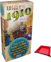 Ticket to Ride USA 1910 Expansion. Includes Unique Foldable Playing Piece / Dice Tray Holder Bundled with Game