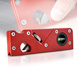Mini Handhold Woodcraft Edge Corner Shaping Carpenter Tool,Multifunction Block Planer with Adjustable Blade and Leveling Tool,Red Uuty Woodworking Chamfering Planer Tools