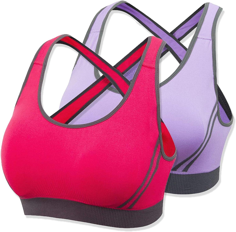 OMG_Shop Women's Activewear Fitness Moving Comfortbal Racerback Sports Bras Yoga Bra