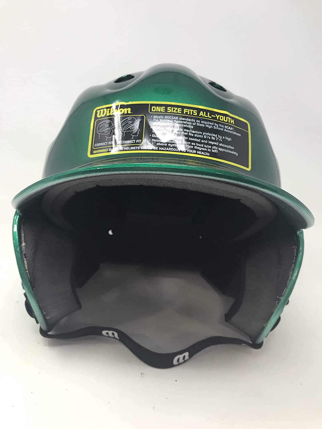 WILSON New A5226 Youth Slick Batting Helmet Green San Francisco Mall OSFA Selling and selling Adult 1 6