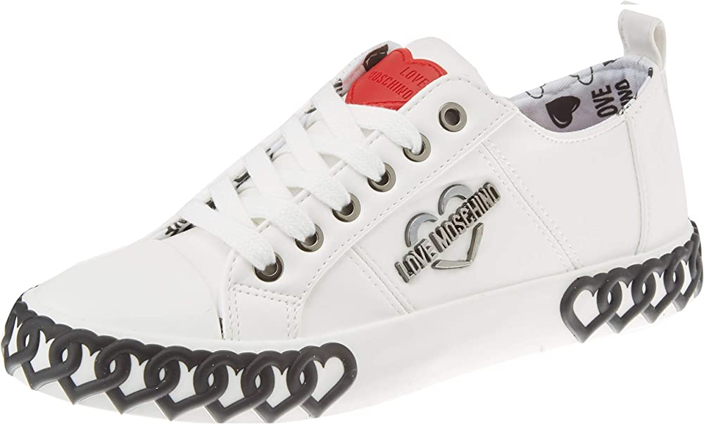 Love moschino sneakers da donna in pelle JA1524