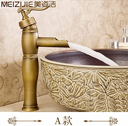 NewBorn Faucet Water Taps Hot And Cold Water Basinfull Copper Antique Antique Tap Basin Sink Taps On The Console With HighIntensity