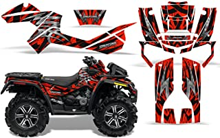 CreatorX Can-Am Outlander 800 Xmr Graphics Kit Decals Stickers Bolt Thrower Red