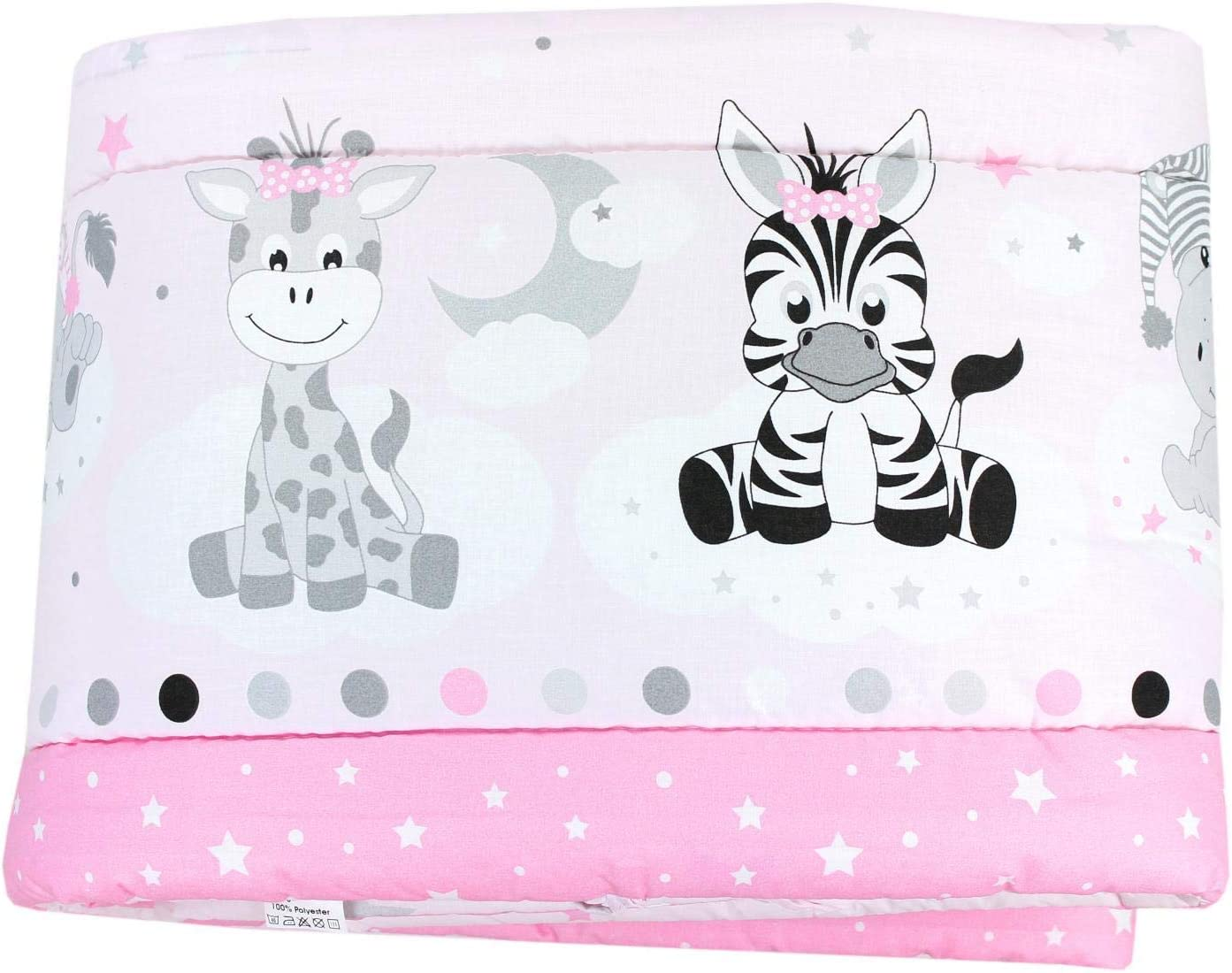 Cot 120x60 cm Hearts Blue//Grey TupTam Baby Cot Bumper All Around Padded Bed Protection 360x30 cm