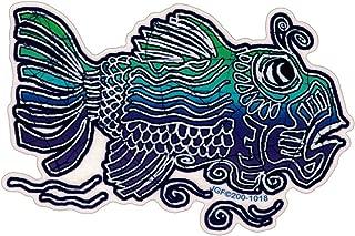 Grateful Dead Jerry Garcia's Fish - Window Sticker/Decal (5.5