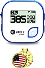 $83 » GolfBuddy Voice 2 Golf GPS/Rangefinder Bundle with Ball Marker and Magnetic Hat Clip