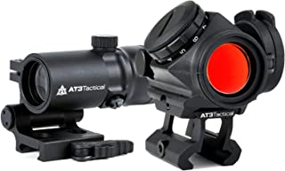 AT3 Tactical RD-50 Red Dot Sight + 4xRDM Red Dot Magnifier Combo Kit