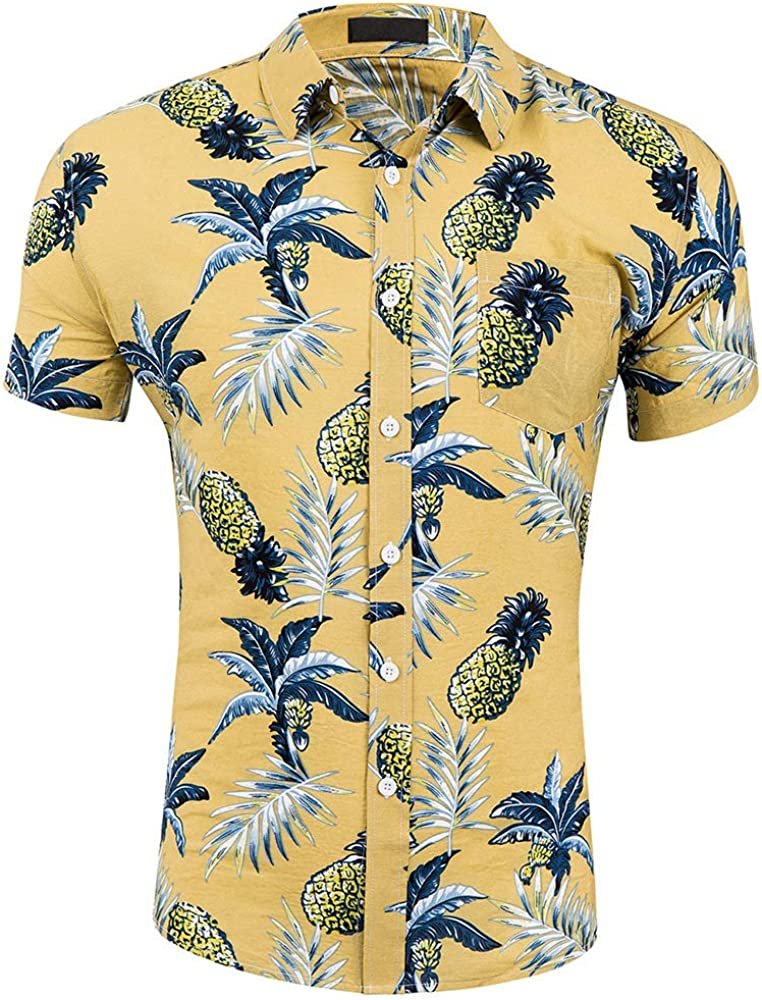 CATERTO Men's Short Sleeve Standard-Fit Max Limited price 65% OFF Cotton Down Button 100%