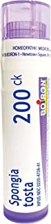 Boiron Spongia Tosta 200C, 80 Pellets, Homeopathic Medicine for Croupy Cough