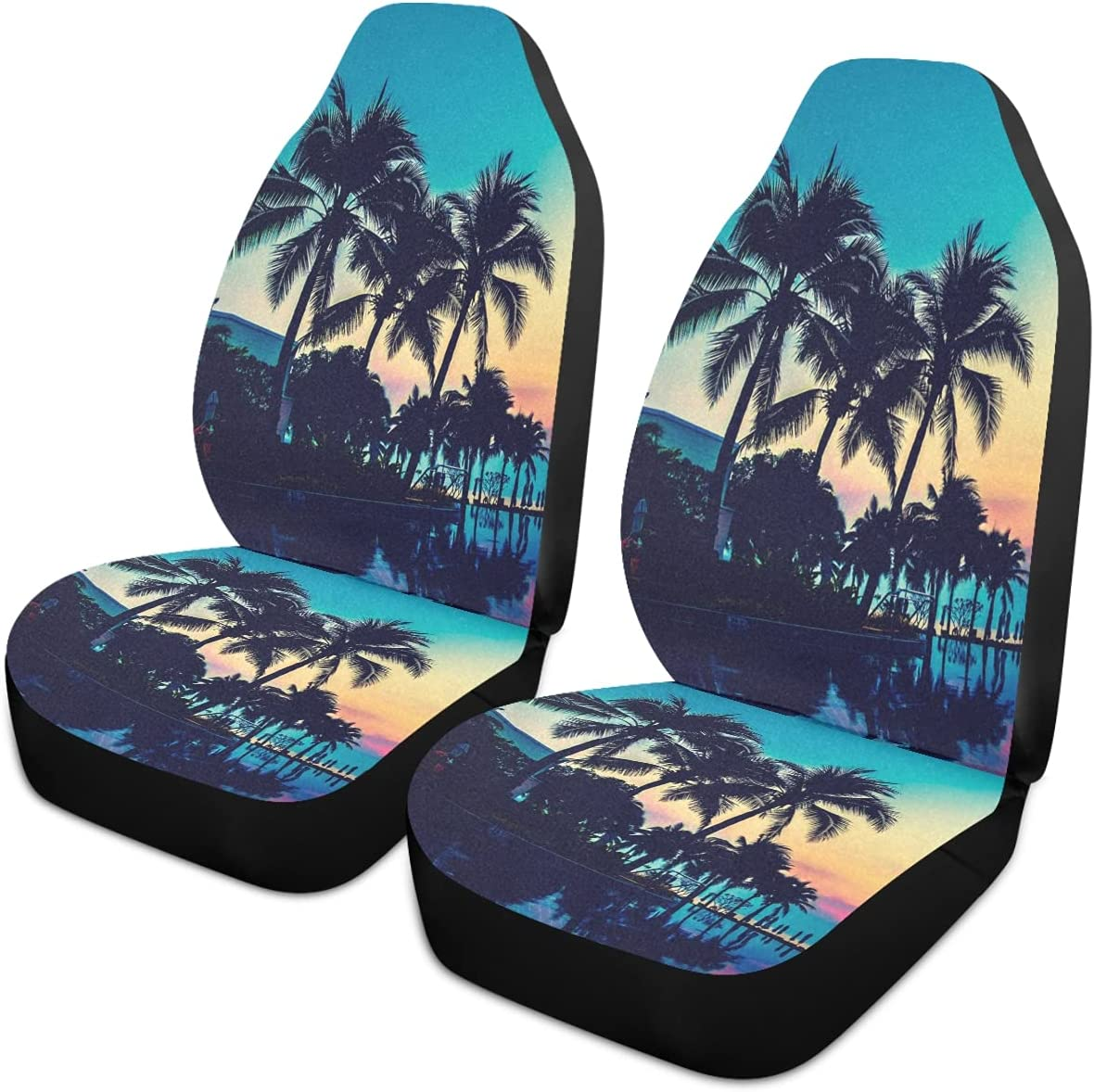 Oarencol Ranking TOP12 Summer Palm Tree Beach Seat Universal Ocean Long-awaited Car Covers