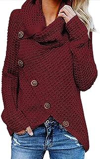 Sudadera para Mujer De Manga Larga Camisas Moda Sudadera Pullover Cárdigan Tops Blusa Calle Suelto Jersey Suéter