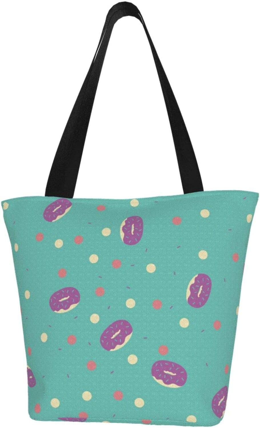 AKLID Donut Courier shipping free shipping Dot Extra New Shipping Free Large Water Canvas for Tote Bag Resistant