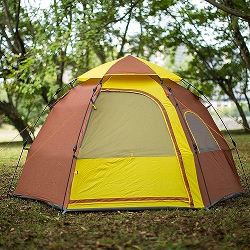 Pop Up Tente Instantanée, Tente portative de Plage d'hexagone, abri extérieur extérieur de Tente de Camping résistant à l'eau de Couche(5-6Person)