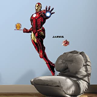 Roommates Iron Man Giant Wall Decal With Glow, Multi-Colour, RMK3172GM
