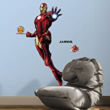 RoomMates Iron Man Peel And Stick Giant Wall Decals With Glow - RMK3172GM
