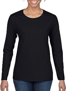 Women's Heavy Cotton Long Sleeve T-Shirt, 2-Pack