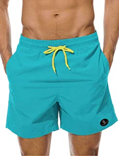 STARBILD Men's Quick Dry Beach Shorts Swim Trunks with Pockets Bathing Suits