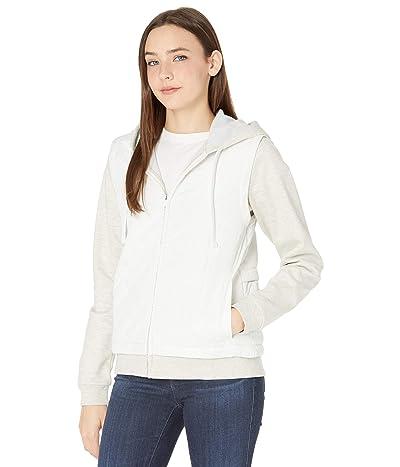 Hurley Therma Fleece Combo Hooded Full Zip Jacket (Sail 1) Women