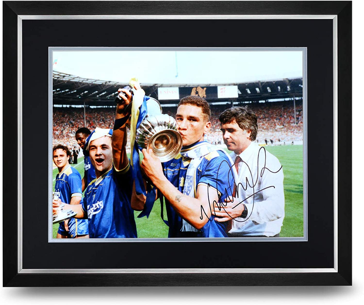 Vinnie Jones Signed Photo Large Framed Wimbledon Display Autograph Memorabilia