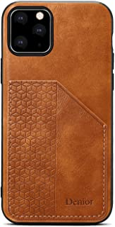 Positive Cover Compatible with iPhone 11 Pro, brown PU Leather Wallet Flip Case for iPhone 11 Pro