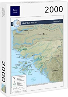 Lais Jigsaw Physical Map Guinea-Bissau 2000 Pieces