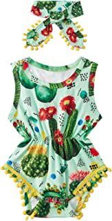 BFUSTYLE Newborn Toddler Baby Girl Floral Bodysuit Romper...