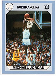 Michael Jordan North Carolina Tar Heels UNC College Basketball Card-Dunk Shot