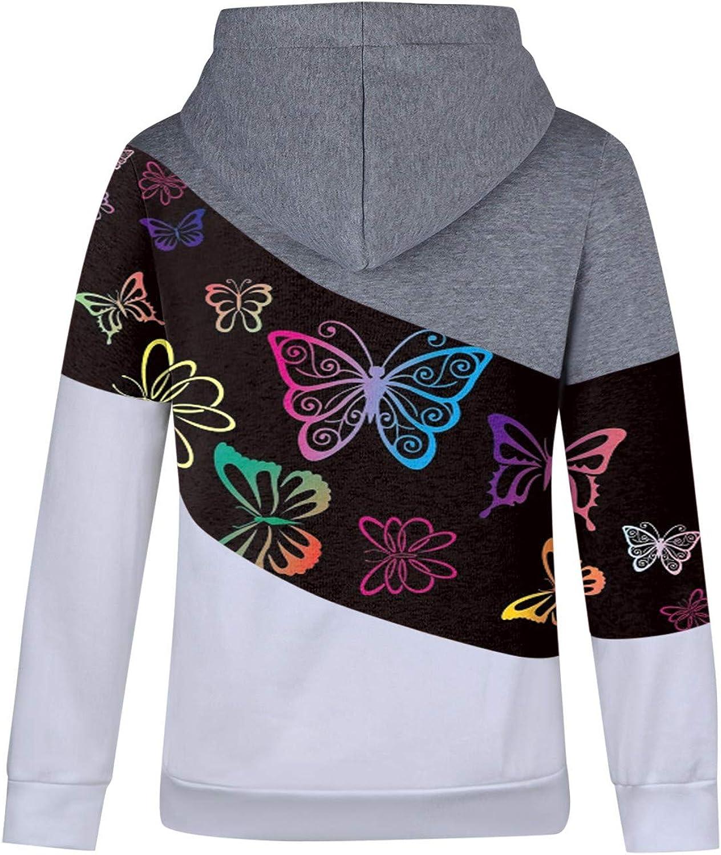 MRULIC Mode Hoodies Sweatshirt Dicker Herbst und Wintermantel mit Kapuze Slim Damen Kapuzenpullover B7