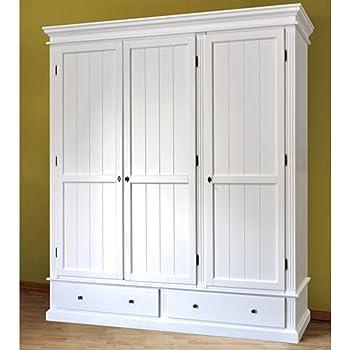 EsteaMobili - Armario para dormitorio con 2 puertas, madera lacada color blanco, estilo country/provenzal: Amazon.es: Hogar