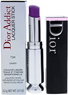 Christian Dior Dior Addict Lacquer Stick - 794 Gamer By Christian Dior - 0.12 Oz Lipstick, 0.11 Ounce
