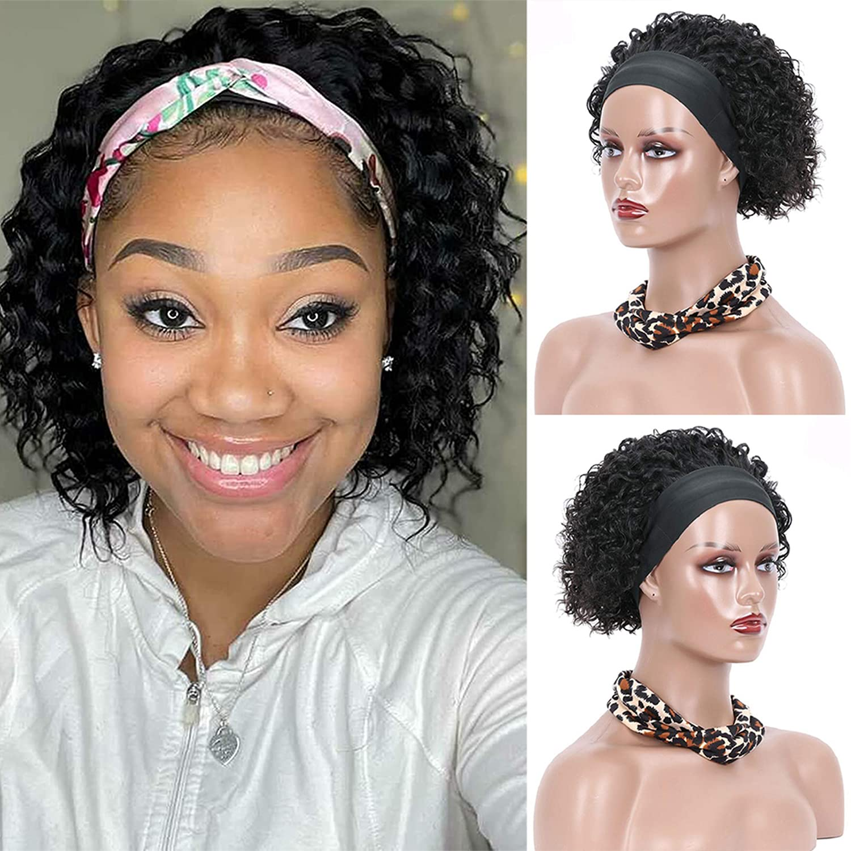 Popular brand in the world SonwHair Headband Wigs Human Hair for Black Genuine Women Brazilian kink