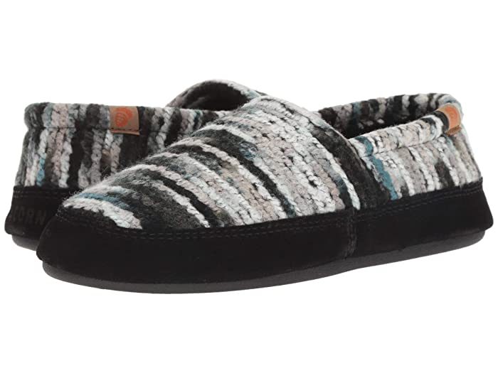 Acorn   Moc (Wooly Stripes) Womens Moccasin Shoes
